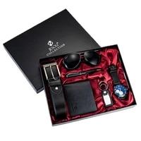 6pesset mens gift set beautifully packaged watch leather belt wallet creative minimalist combination set 6pesset