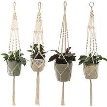 اليدوية مكرامية مصنع شماعات حامل النبات زهرة/وعاء شماعات لتزيين الجدران لوازم حديقة كونتيارد