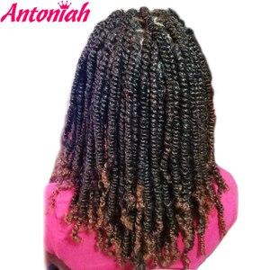 Антониач бомба пушистые крученые вязаные волосы Пружинные крученые плетеные волосы страстные крученые волосы вязаные крючком волосы синт...