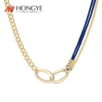 hongye gold color handmade link chain female charm trendy casual sporty for woman girl party new fashion hot sale 2021 new