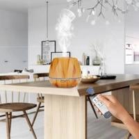Diffuseur dhuile essentielle et darome avec telecommande  humidificateur dair avec lumiere Led aux 7 couleurs changeantes pour la maison  le Yoga et le bureau
