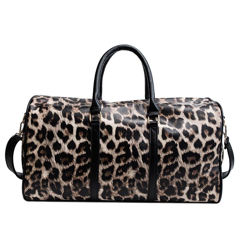 Leopard New Short Distance Travel Large Capacity Travel Luggage Bag Leopard Handbag Travel Bag Malas De Viagem Packing Cubes