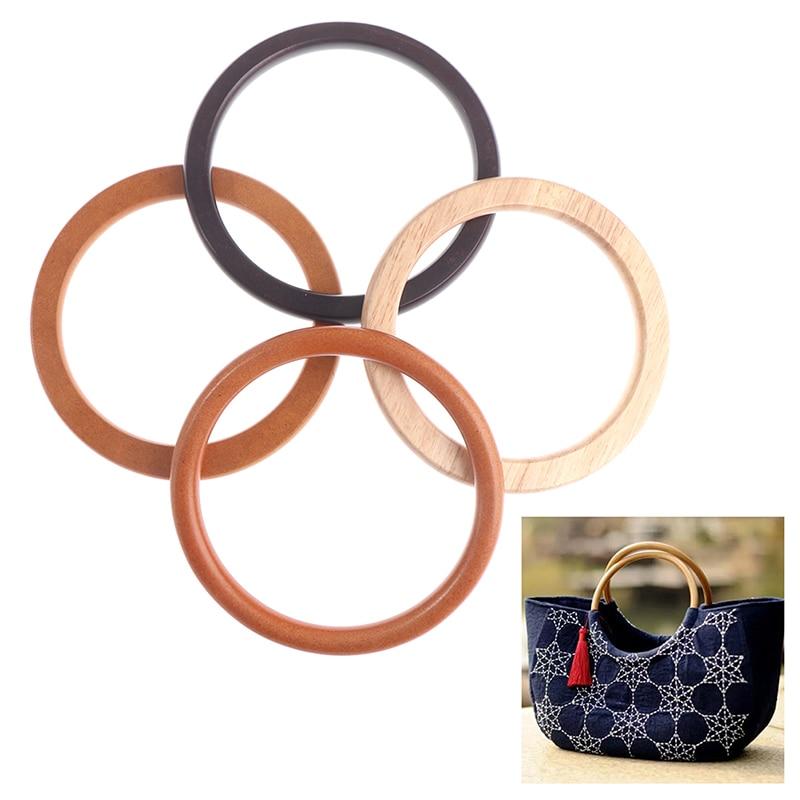 1 шт. D/круглая деревянная ручка ручной работы для ручной работы, сумочка «сделай сам», тоут, рама для сумок, вешалка для сумок, ремешок, тоут, аксессуары для сумок