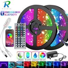 5M-30M Bluetooth LED Strip 5050 2835 IP20 RGB Strip LED Light flessibile Ribbon Stripe DC 12V RGB Diode Tape adattatore Controller IR