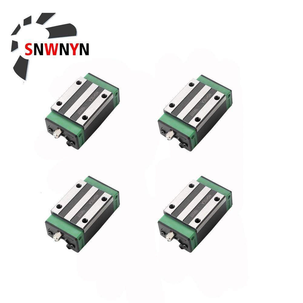4 قطعة/الوحدة HGH15CA/HGW15CC HGH20CA/HGW20CC HGH25CA/HGW25CC HGH30CA/HGW30CC المحامل الخطية الشريحة كتلة النقل ل Cnc أجزاء