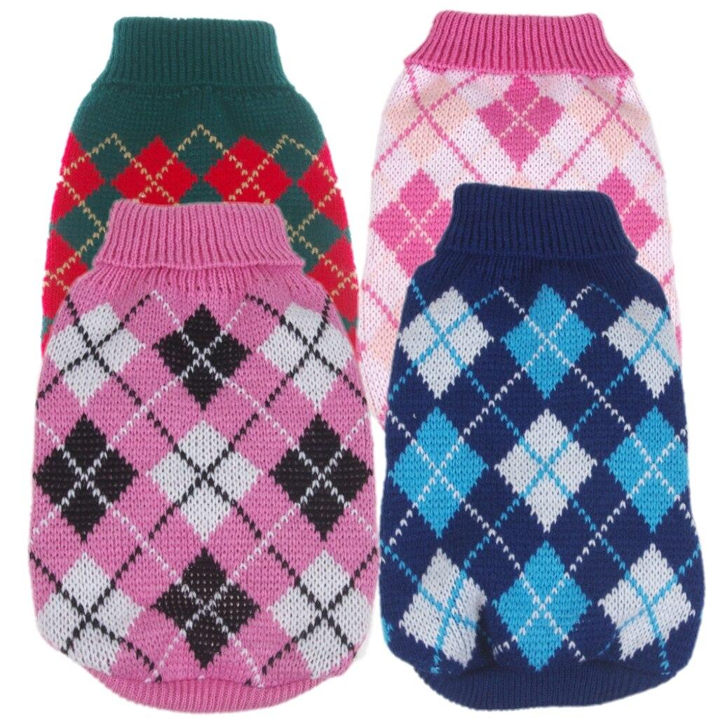 Diamante en forma de suéter de perro, para mascota Jersey Chaqueta de punto jersey ropa para perro de mascota cachorro pequeño 5 Color XS S M L XL