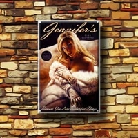 girls metal poster body soul retro tin sign bar club cafe garage home decoration beauty magazine wall art painting