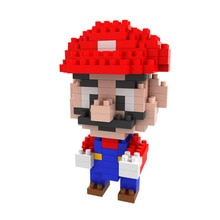 Nintendo jeu Mario petit bloc de Construction avec boîte Compatible Micro bloc de Construction jouets de Construction blocs enfants jouets
