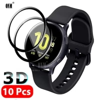 10pcs 3d full screen protector film for samsung galaxy watch active 2 40mm 44mm anti bubble soft edge screen protector cover