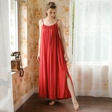 Roseheart femmes mode femme rouge vêtements de nuit Sexy chemise de nuit longue Spaghetti sangle vêtements de nuit chemises de nuit chemise de nuit vêtements de nuit