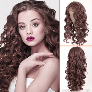 LVHAN Black/White Women's Daily Water Wave Cosplay Wig Wave Wig Long Style Synthetic Wave Natural Loose Wig New Fashion