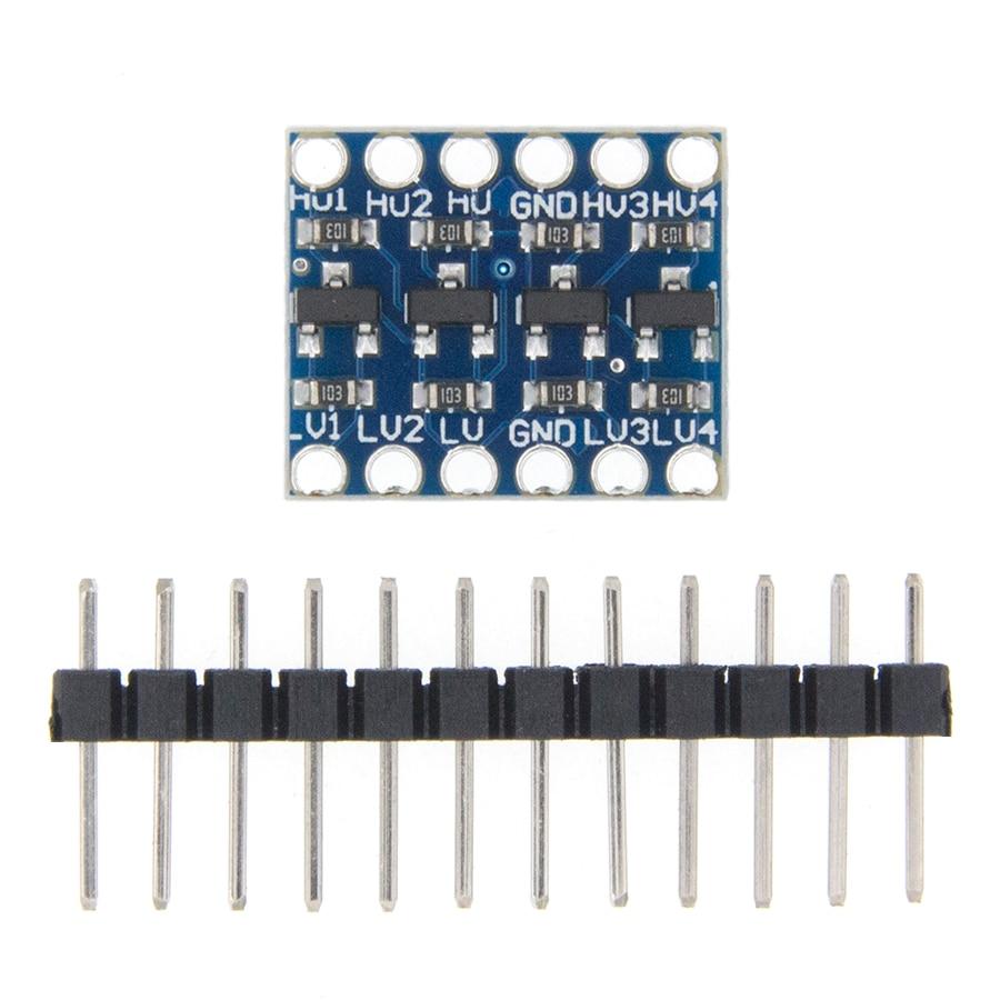 10 Uds 4 canales CII I2C Convertidor de Nivel lógico Bi-Módulo direccional 5V a 3,3 V