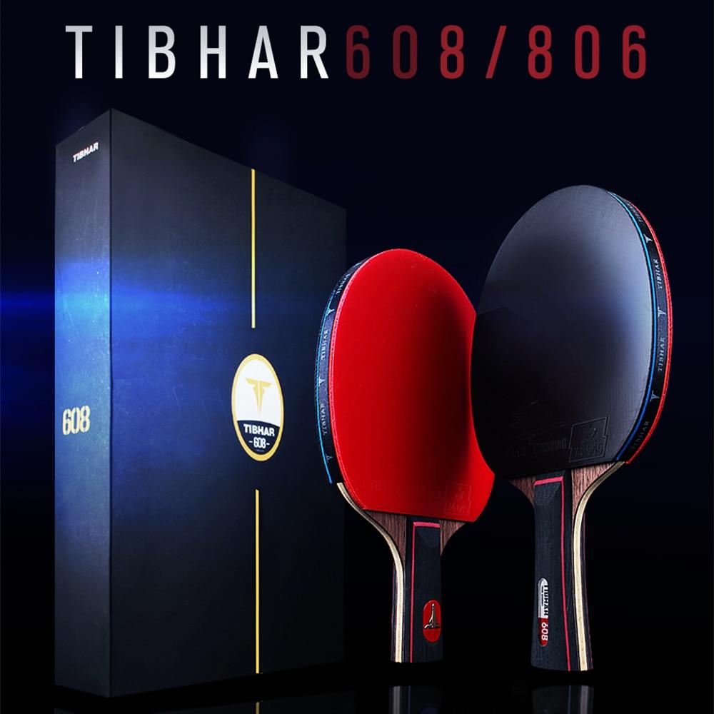 TIBHAR تنس طاولة مضرب البثور في مضارب بينغ بونغ عالية الجودة بليد 806/608 مع حقيبة والهدايا