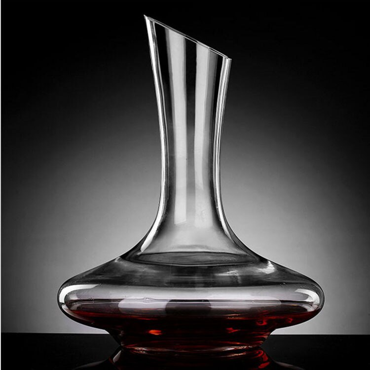 Decantador de vino tinto de Base plana de 1100ML, vertedor de vino de cristal hecho a mano Superior, jarra de agua Premium, pared gruesa