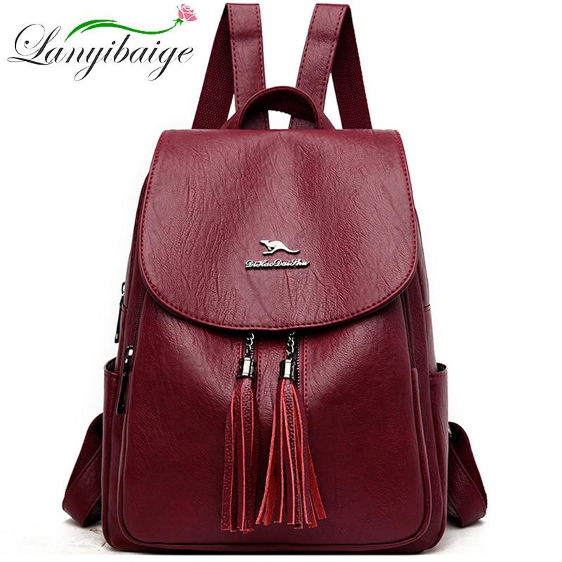 2020 New Women Backpacks High Quality Leather Women Backpacks Large Capacity School Bags Travel Backpacks Designer Bags mochila