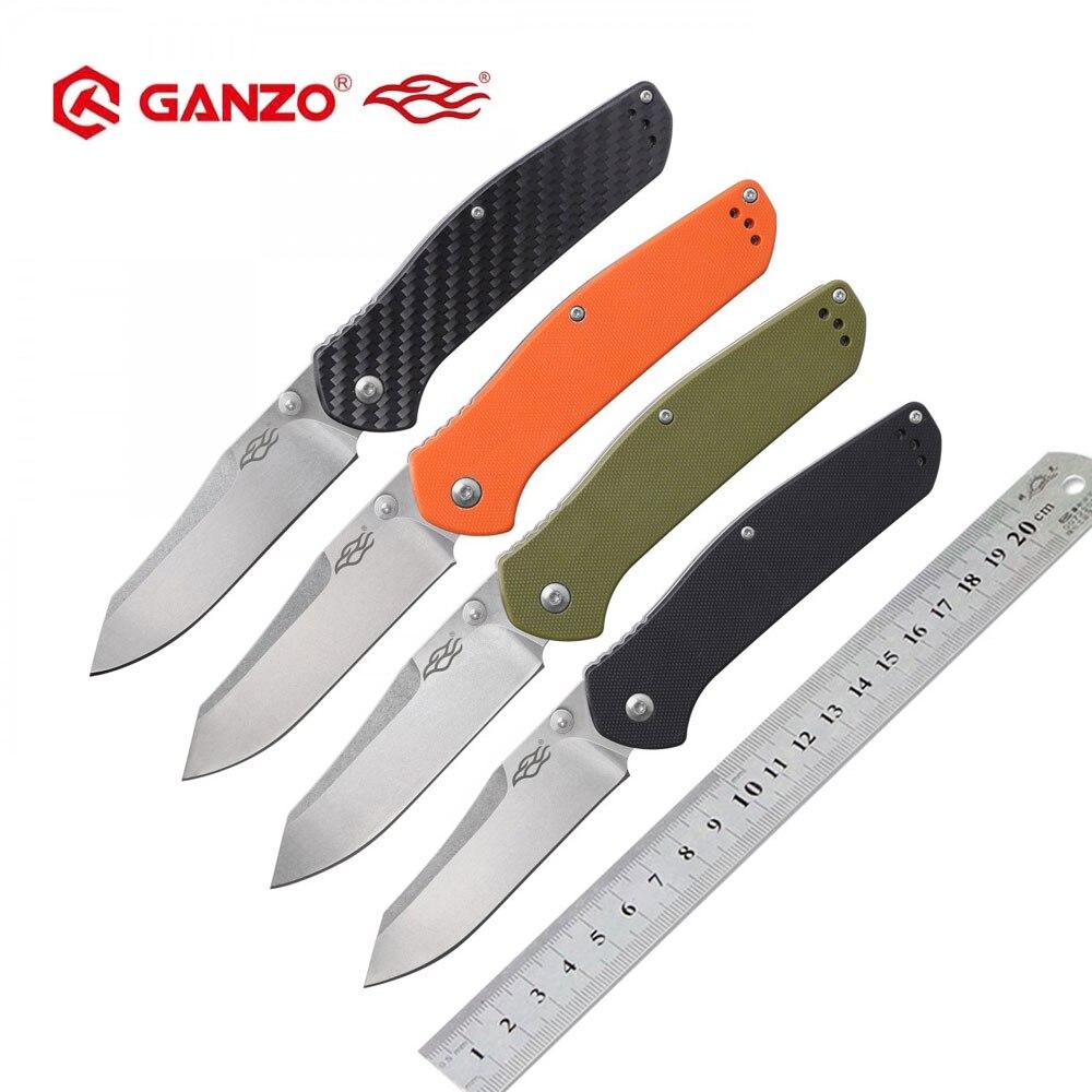 Ganzo G7562 F7562 Firebird 58-60HRC 440C cuchillo plegable cuchillo de supervivencia al aire libre herramienta de Camping caza cuchillo de bolsillo táctico EDC