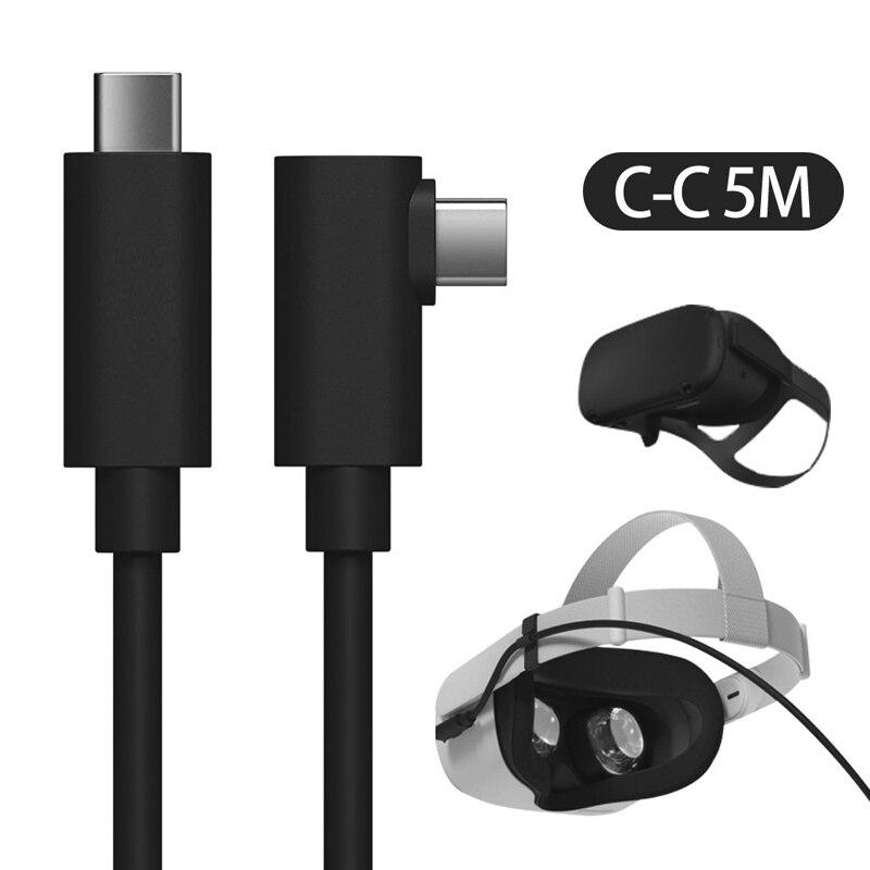 5M USB نوع C كابل ل Oculus كويست 2 VR سماعة كابل الربط سريع تهمة A-C محول نقل البيانات الهاتف المحمول VR اكسسوارات