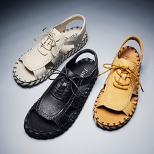 2020 Genuine Leather Sandals Men Shoes Cow Leather Men Sandals Shoes Mens Sandals Summer Men's Sanda