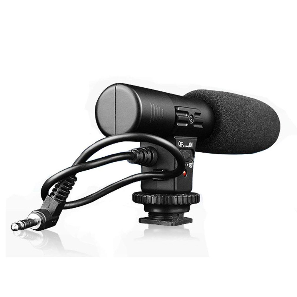MIC-01 SLR Camera Microphone Photography Video Camera Stereo Recording Microphone for DV Digital SLR Camera Camcorder xtuga wireless lavalier microphone professional uhf camera microphone with 30 selectable channels for slr camera dv camcorder