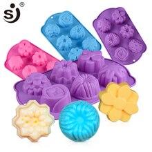 SJ moule à savon 3d fait à la main en forme de fleur   6 moules à savon pour la fabrication de savon, moules artisanaux en Silicone