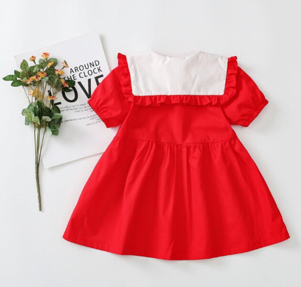 Niña vestido infantes niños bebé niña princesa desfile fiesta cereza bordado vestido Casual vestido de tutú vestidos