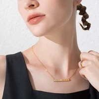 enfashion punk crystal pyramid choker necklace women gold color stainless steel pendant necklaces femme fashion jewelry p193036