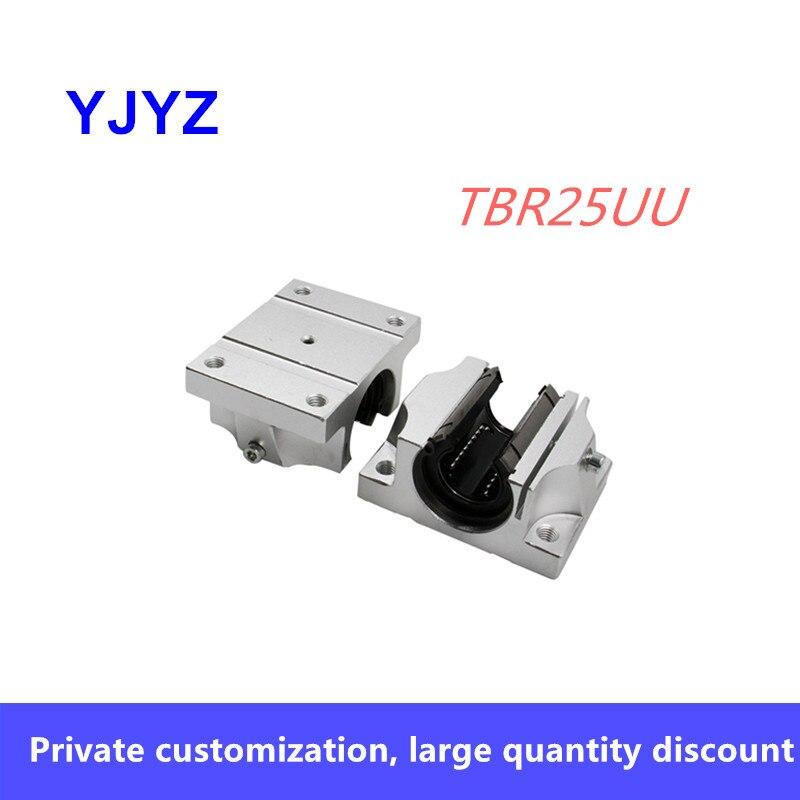 Bloque de rodamiento lineal TBR TBR25UU, 1 unidad, 25mm, bloque de soporte para enrutador CNC