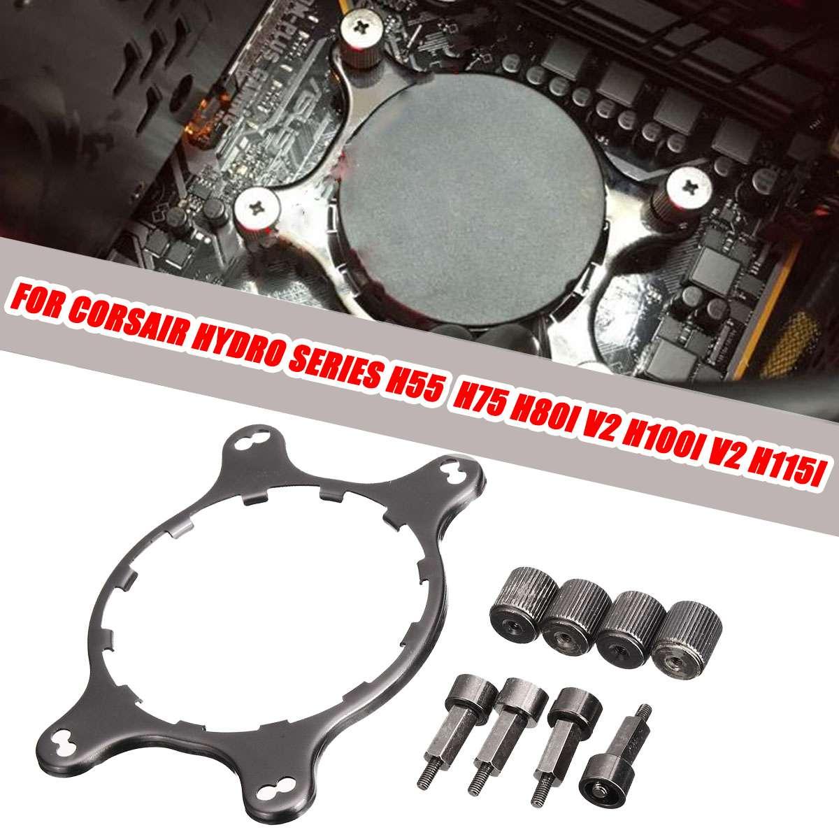 LEORY CPU Cooler AM4 Water Cooling Cooler Mounting Bracket Kit For CORSAIR Hydro Series H45 H55 H60 H75 H80I V2 H100i V2 H115i