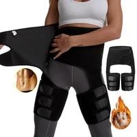 women high waist waist trainer thigh trimmer neoprene sweat shapewear slimming leg support body shapers adjustable slimming belt