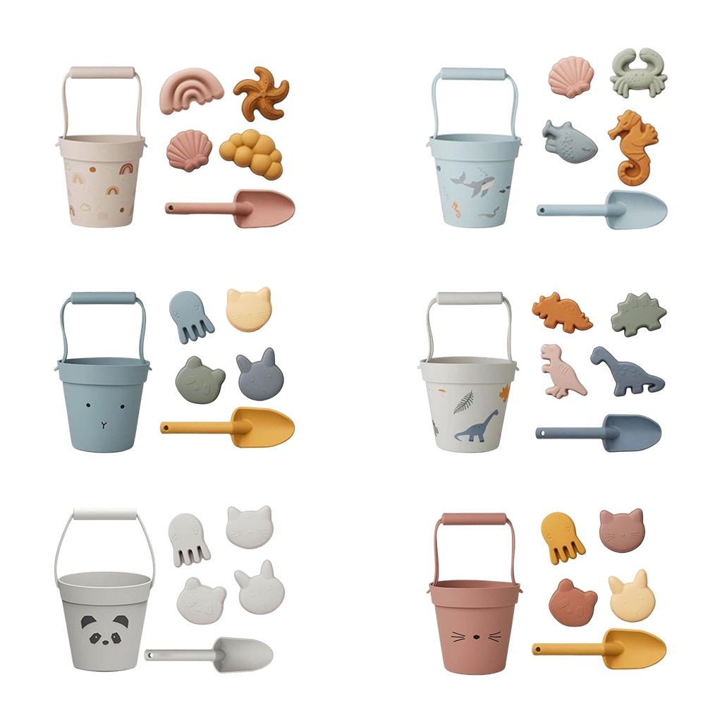 Детские мягкие пляжные игрушки, детский летний песочный инструмент для копания с лопатой, водная игра, набор уличных игрушек, песочница для ...