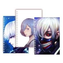 Anime Tokyo Ghoul Masker Cosplay Spiraal Notebook Horror Tekens Kaneki Ken Hunger Red Eye 3D Zombie Rock Schetsboek Blanco pagina