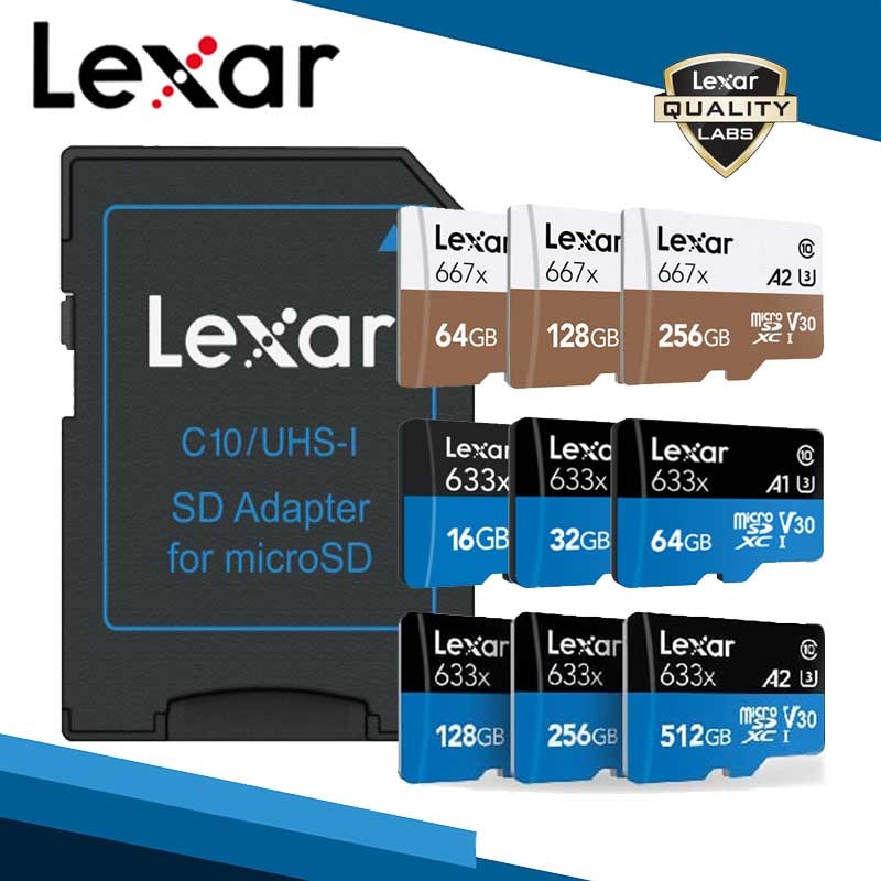 Lexar micro sd 128gb memory card cartao de memoria tarjeta micro sd card microsd 256gb free shiping tf card 512gb sd cards gopro