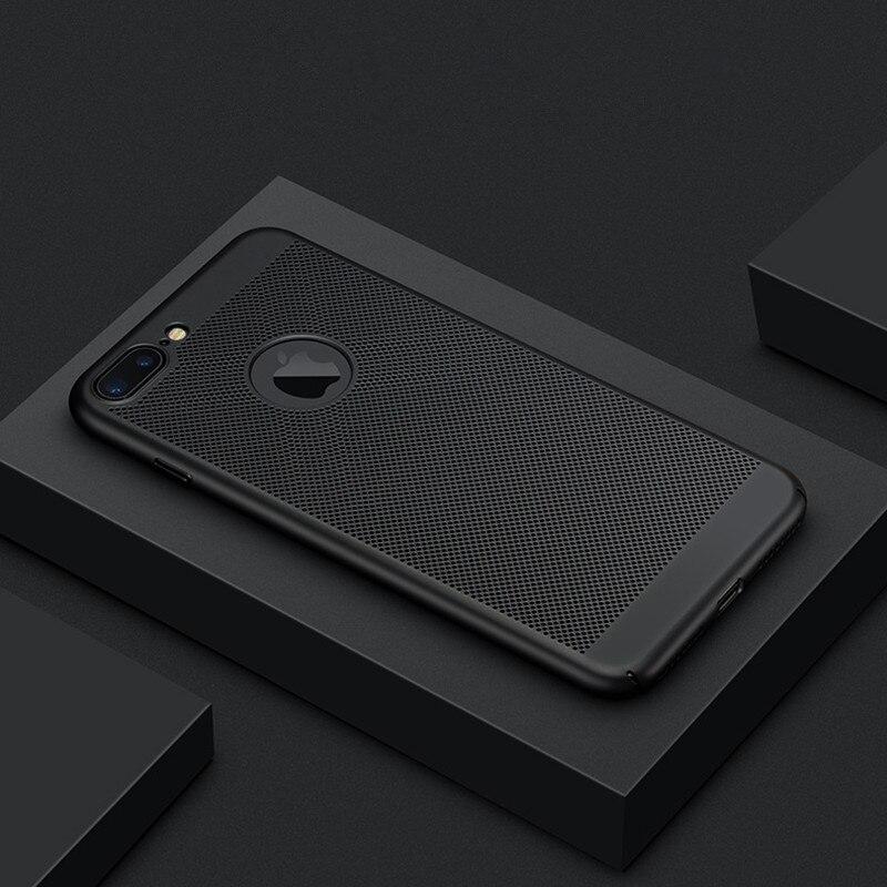 Para o iphone 7 5 5S se caso ultra fino grade calor dissipar caso do telefone para o iphone 6 s 6 s 7 8 plus x xs max xr matte capa dura