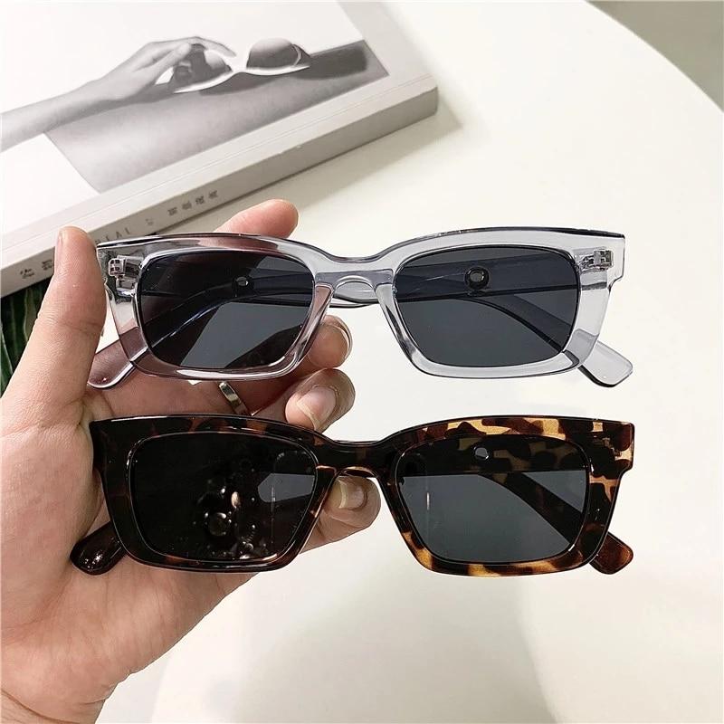Square Cat Eye Sunglasses Leopard Printed Ultralight Glasses Frames Men Women Fashion Driveing Compu