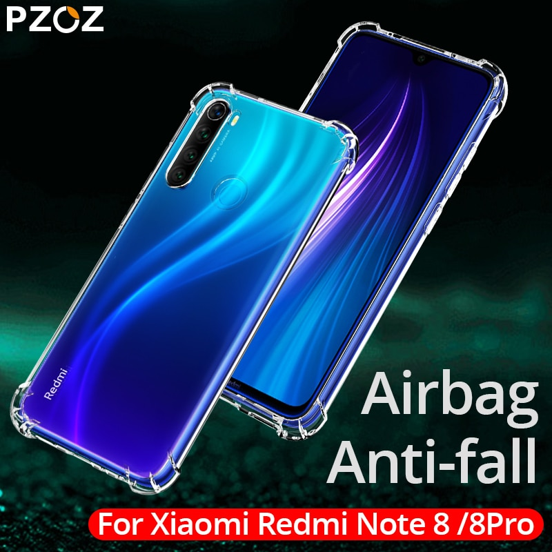 PZOZ funda de lujo para Redmi note 8 silicona a prueba de golpes funda de teléfono móvil con bolsa para Redmi note 8 pro carcasas transparentes para móvil