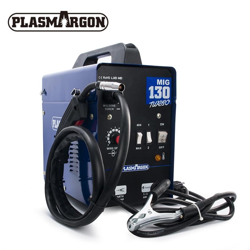 Mig Welder MIG130 220V No Gas Gasless Welding Machine Fit 0.8mm Flux Core For Iron Soldering