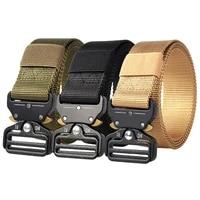 new military tactical belt army nylon belt metal buckle men waistband heavy duty waist belt police hunting training accessories