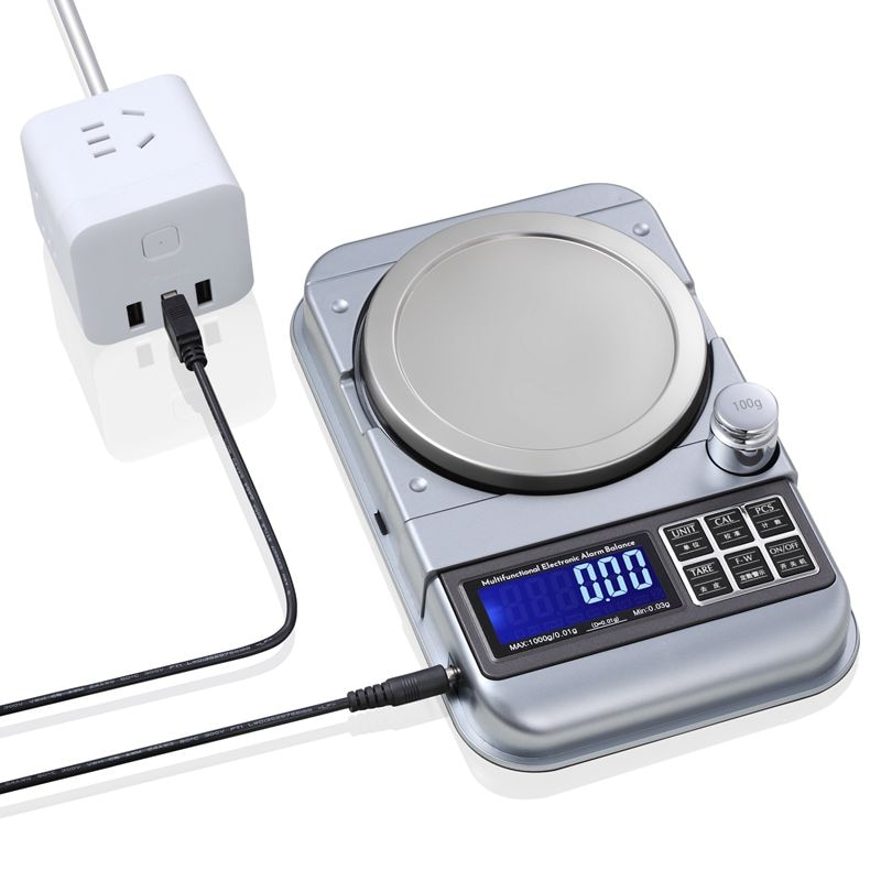 Fixo-número de Aviso Equilíbrio de Peso Escala de Jóias Professinal Digital Usb Eletrônico Lcd Cozinha Alarme Contagem Escalas 0.01g – 0.1g