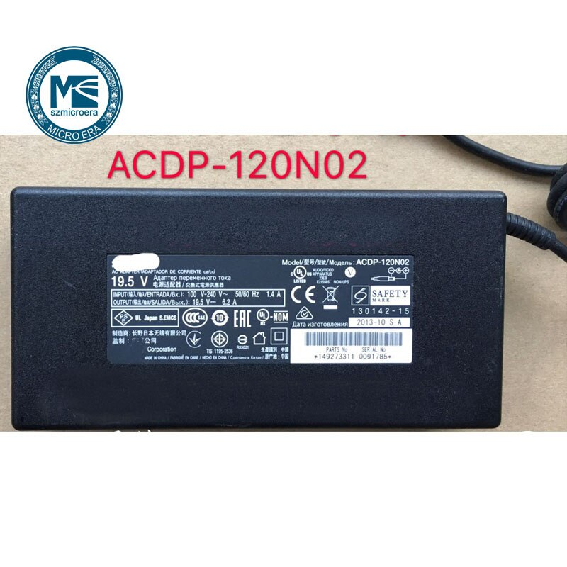 Оригинальный ТВ адаптер питания для sony ACDP-120N02 19,5 V 6.2A