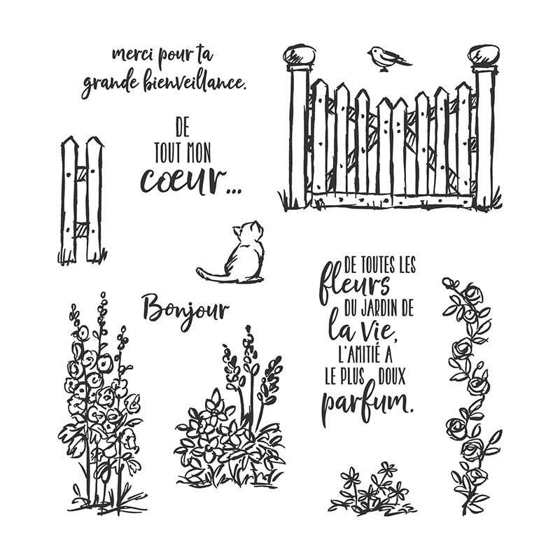 2020 DIY nuevos troqueles de corte de Metal y álbum de recortes para hacer papel Graces Garden Embossing Frame Card sellos en inglés o francés