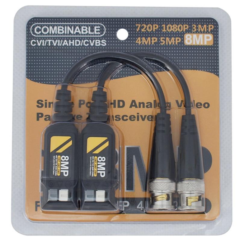 10 пар 8MP CCTV коаксиальный Видео Balun BNC передатчик AHD/HD-CVI/TVI/CVBS пассивная витая пара для камер