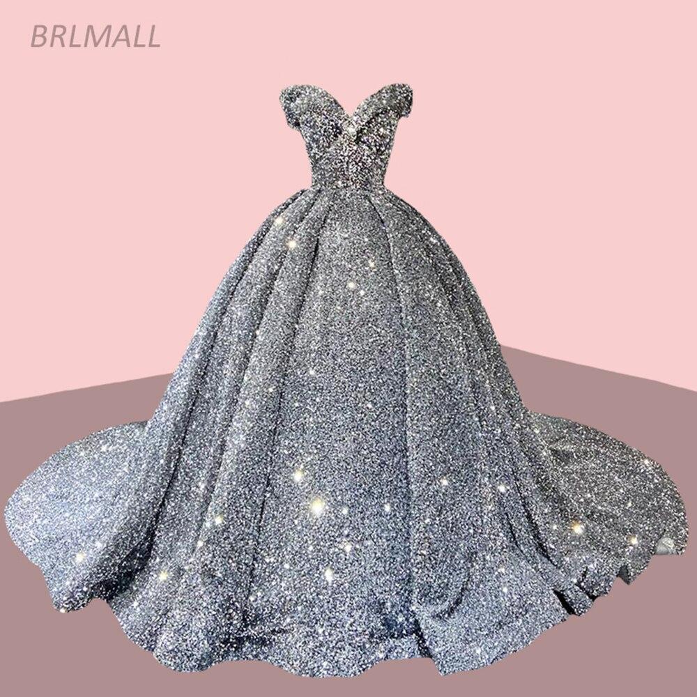 فستان سهرة لامع ، أكتاف عارية ، ترتر ، طويل ، ثوب الكرة ، فستان رسمي ، يتوفر حسب الطلب ، مجموعة 2021