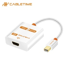 CABLETIME Thunderbolt Mini DP-HDMI 활성 어댑터 M/F Mini DisplayPort-MacBook Pro Air iMac 프로젝터 C065 용 HDMI 케이블