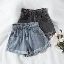 Women's denim shorts 2020 new high-waist shorts women casual loose ladies fashion large size elastic