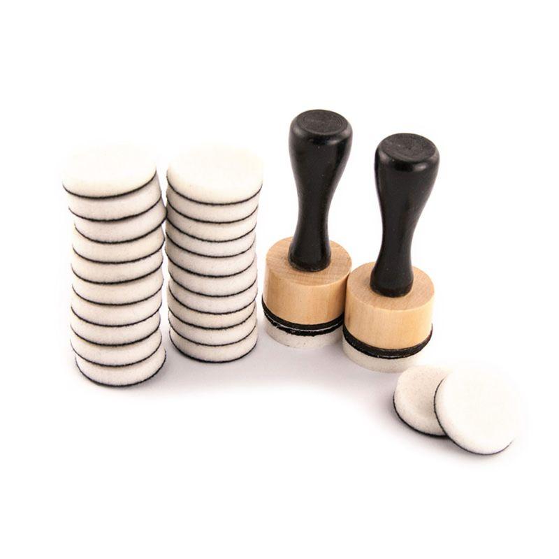 Mini Ink Paints Mixing Blending Tools Round Foam Refills for Scrapbooking Craft