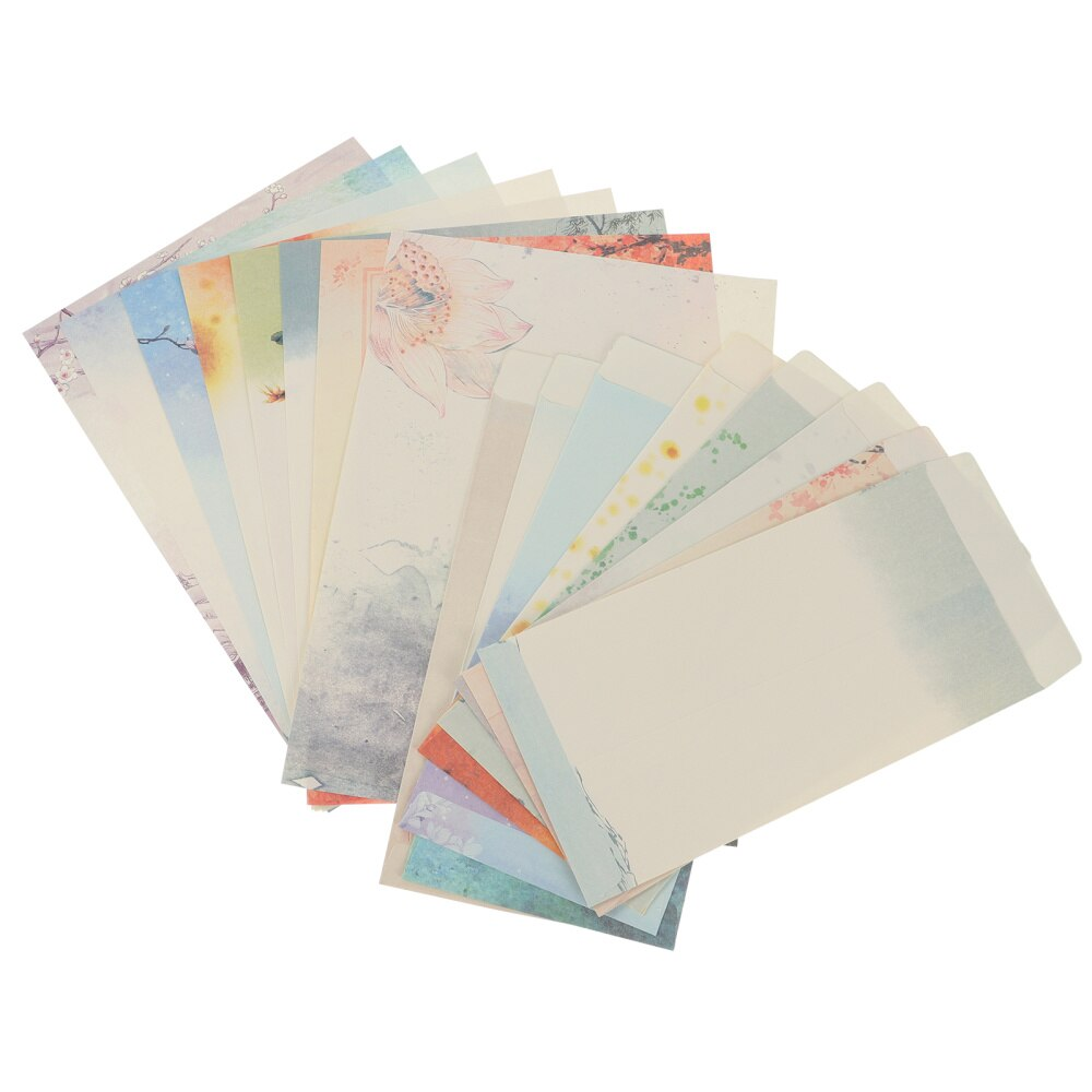 10 Sets Letter Writing Paper Chinese Style Paper with Envelope (Mixed Style)
