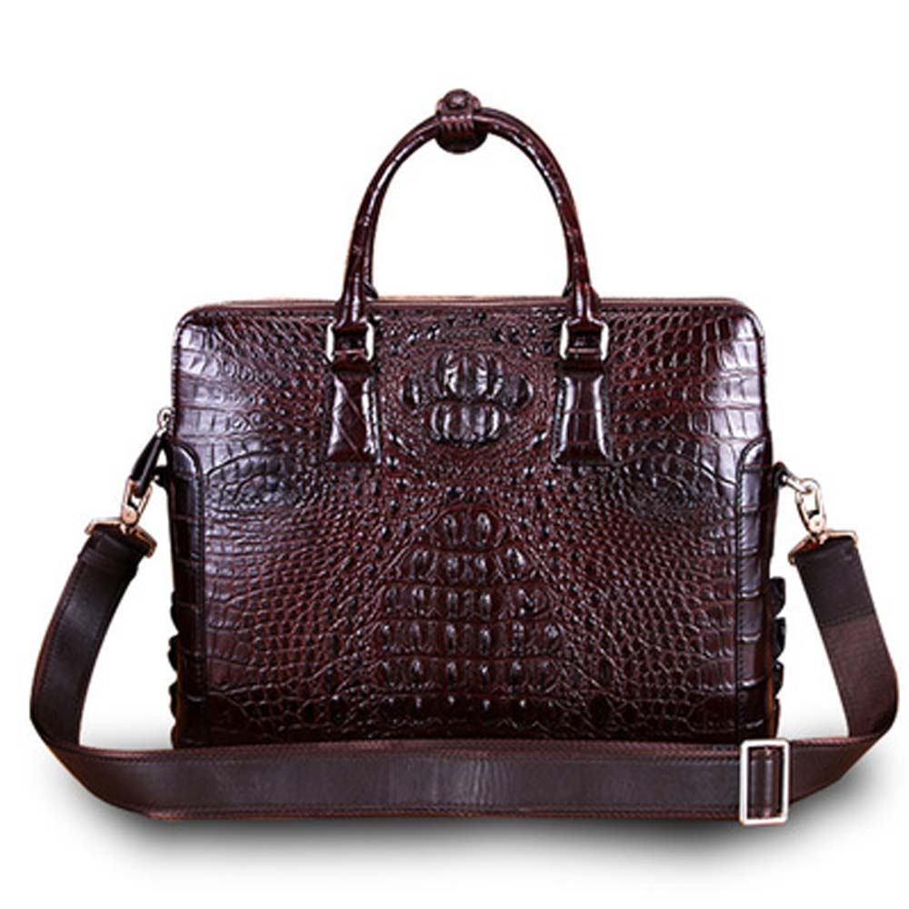 ejiang Thailand  crocodile bag Men handbags  business  leisure men briefcase  male  crocodile leather  Double zipper  male bag