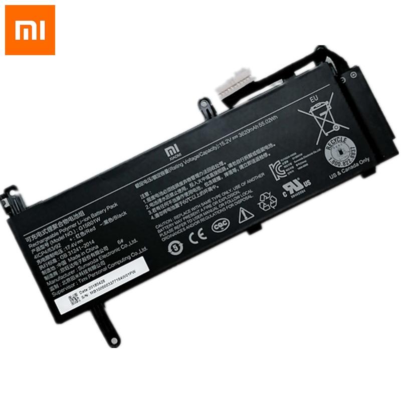 Xiaomi-batería Original para ordenador portátil G15B01W, de 3620mAh, para videojuegos, Xiaomi, 15,6 , 7300HQ, 8 Gen, GTX1050, GTX1060, serie 15,2 V, 55.02Wh