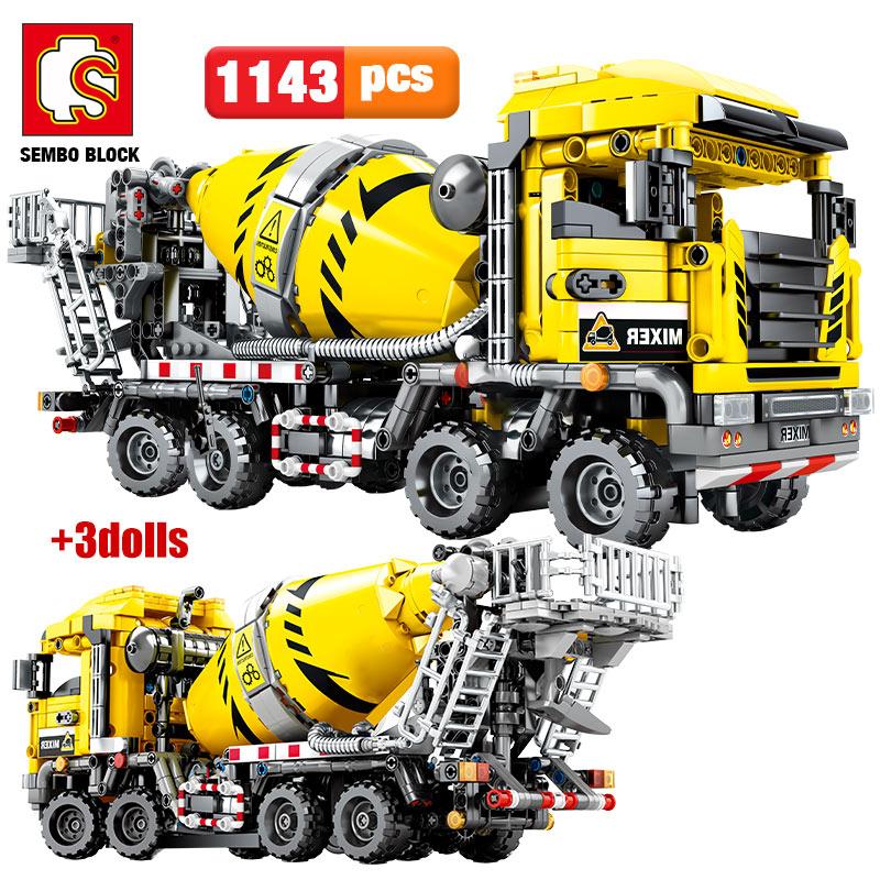 AliExpress - SEMBO BLOCK City Engineering Bulldozer Crane technical Car Truck Excavator Roller Building Blocks bricks Construction Toys