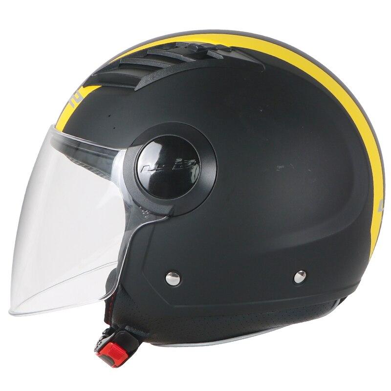LS2 OF562 casco moto vintage flujo de aire de la motocicleta casco vintage de 3/4 de la cara abierta del verano jet scooter media cara moto casco LS2 cascos
